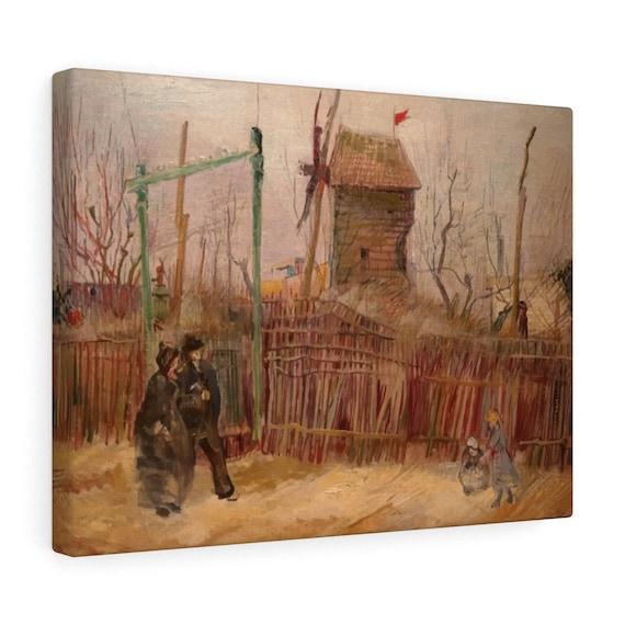 Street Scene In Montmartre v2 Canvas Gallery Wrap, Vincent Van Gogh, 1887