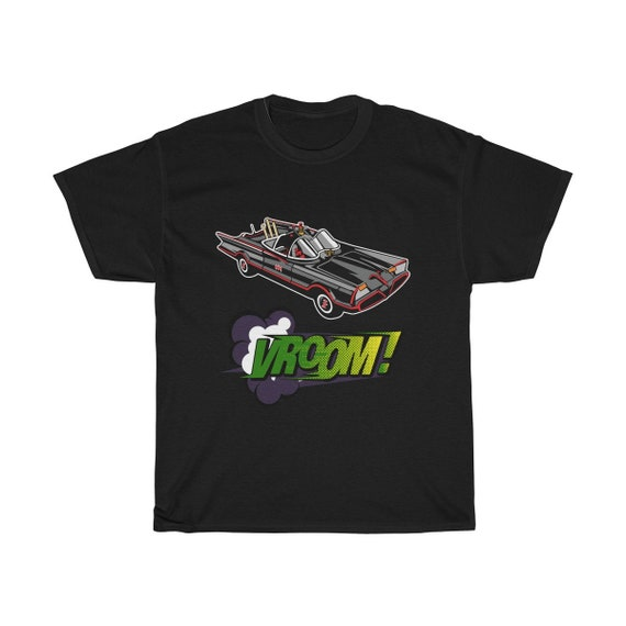 Kitschy Batmobile, Unisex Heavy Cotton T-shirt, Inspired From 1960s Batman TV