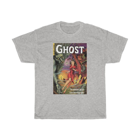 Ghost Comics - Heavy Cotton Tee - Vintage Horror Comic Cover