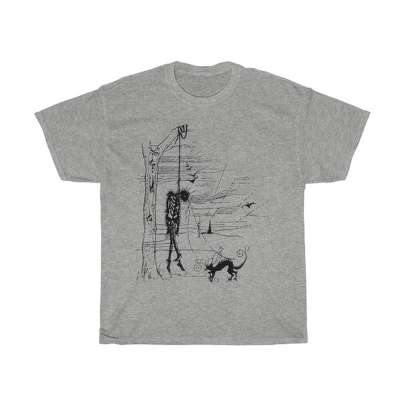 Black Cat's Revenge, Unisex T-shirt, Inspired By Edgar Allan Poe Short Story, Vintage Illustration
