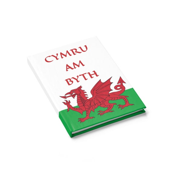 Cymru Am Byth, Hardcover Journal, Ruled Line, Red Dragon, Flag Of Wales, Welsh Motto, Welsh Pride