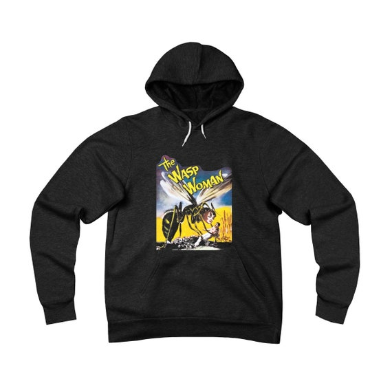 The Wasp Woman, Black Unisex Sponge Fleece Pullover Hoodie, 1959 Sci-Fi Horror Movie Poster
