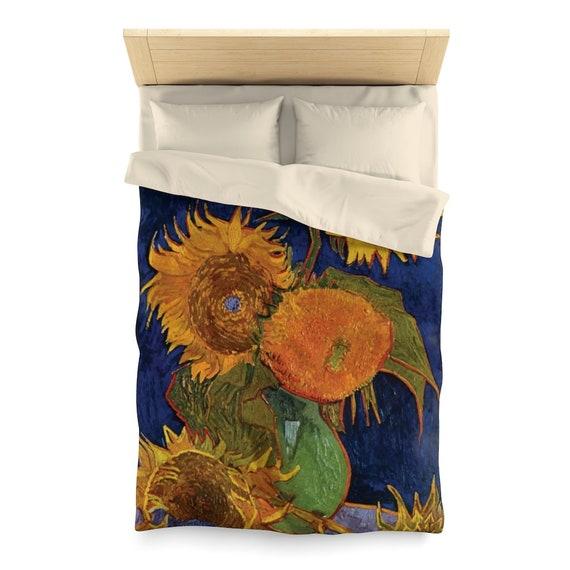 Six Sunflowers, Duvet Cover, Vintage, Antique Painting, Vincent Van Gogh