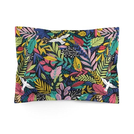 Retro Jungle Floral Pillow Sham