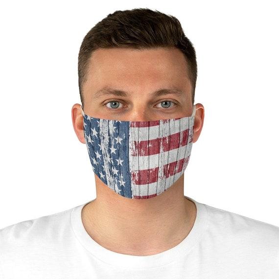 Rustic American Flag Cloth Face Mask, Washable, Reusable, Americana, Patriotic, Patriotism