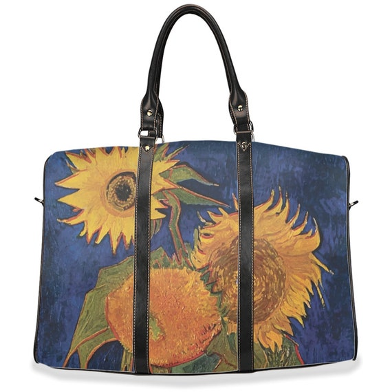 Six Sunflowers, Travel Bag, Vintage, Antique Painting, Vincent Van Gogh, 1888