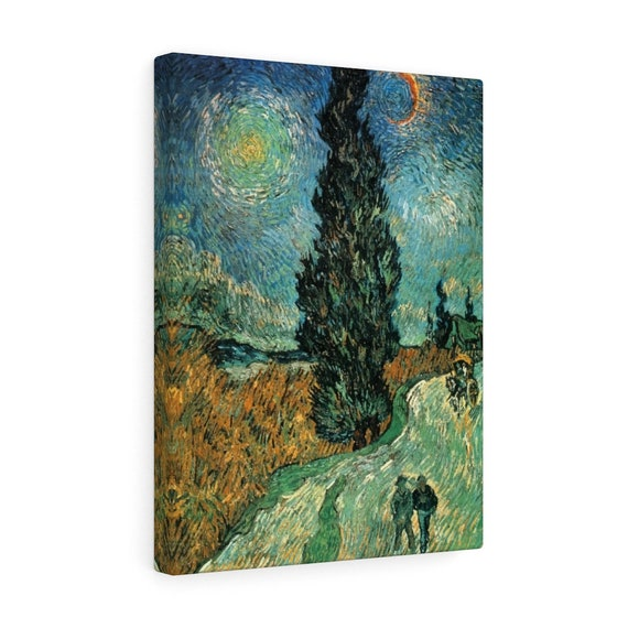 Road with Cypress and Star Canvas Gallery Wrap, Vincent Van Gogh, 1890
