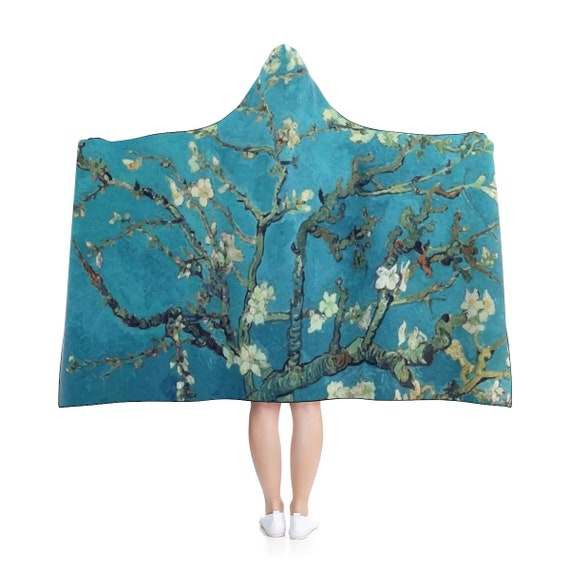 Almond Blossoms, Hooded Blanket, Vintage Painting, Van Gogh 1890