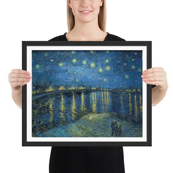 "Starry Night Over The Rhone, 20"" x 16"" at 300 DPI Digital Image, Vincent Van Gogh"