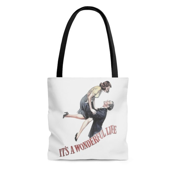 It's A Wonderful Life, Square Tote Bag, Vintage 1946 Movie Poster