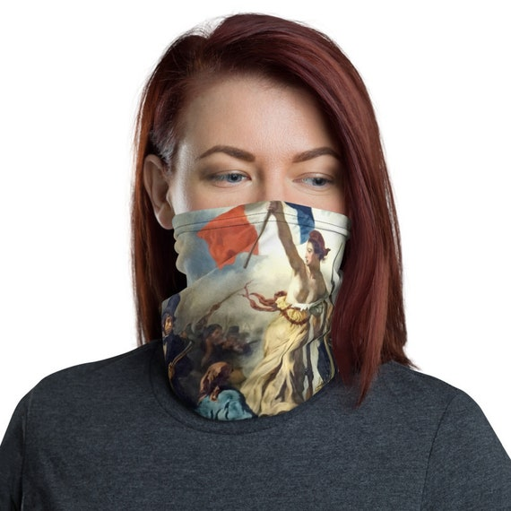 Liberty Leading The People, Neck Gaiter, Eugène  Delacroix, 1830, Activism, Headband, Bandana