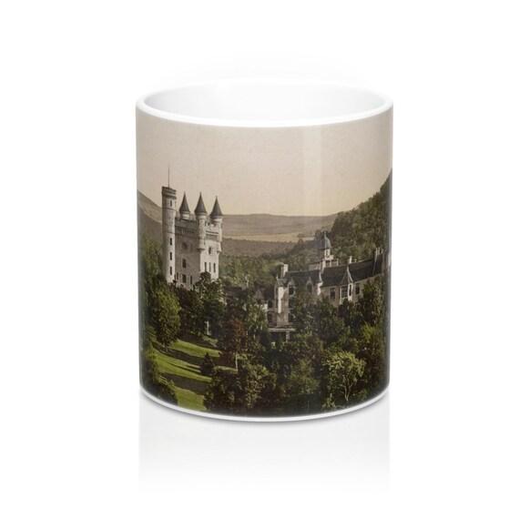 Balmoral Castle, Scotland, Coffee Mug, Antique/Vintage Postcard, Circa 1890 To 1906.