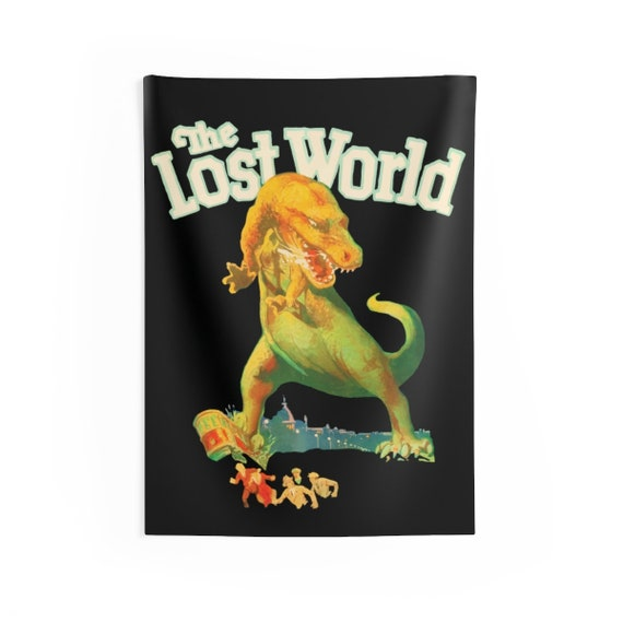 """The Lost World, 26""""x36"""" Indoor Wall Tapestry, Vintage 1925 Monster Movie Poster"""