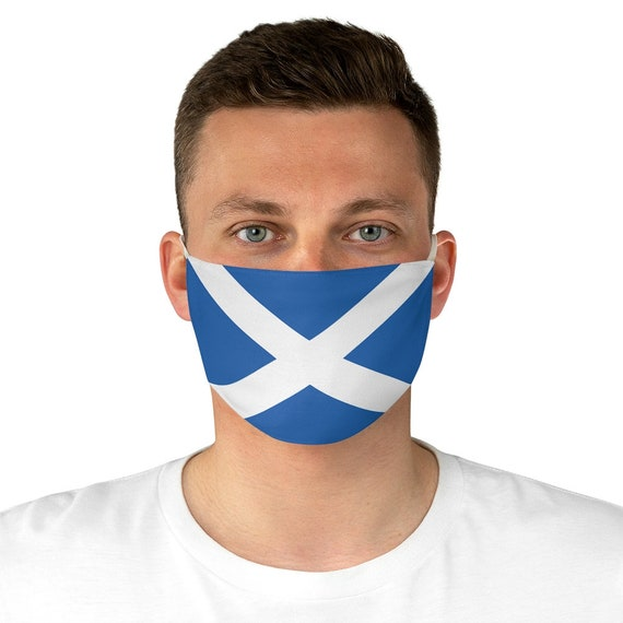 Flag Of Scotland, Cloth Face Mask, Washable, Reusable, Saint Andrew's Cross, Saltire, Scottish Pride