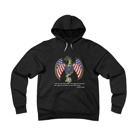 Imperial Dragon, Unisex Sponge Fleece Pullover Hoodie, Anti-imperialism Quote By Mark Twain