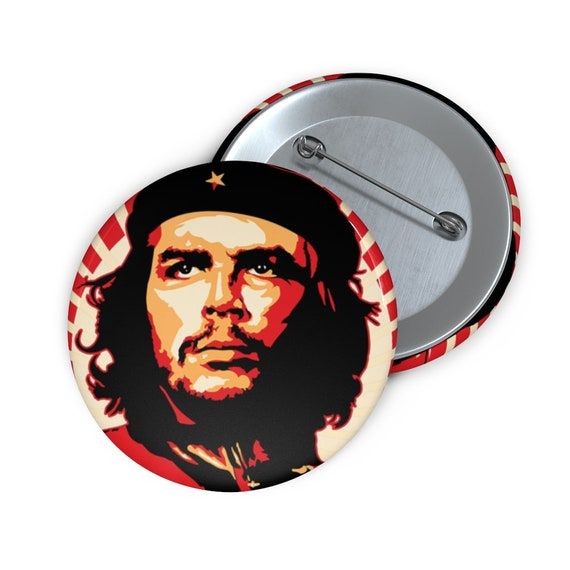 "Che Guevara, 2"" Pin Button, Retro/Vintage Style, Revolution, Leftist, Marxist, Communist, Socialist, Activism"