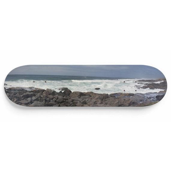 Oregon Coast Panoramic, Skateboard Art, Maple Deck, Yachats, 804 Trail