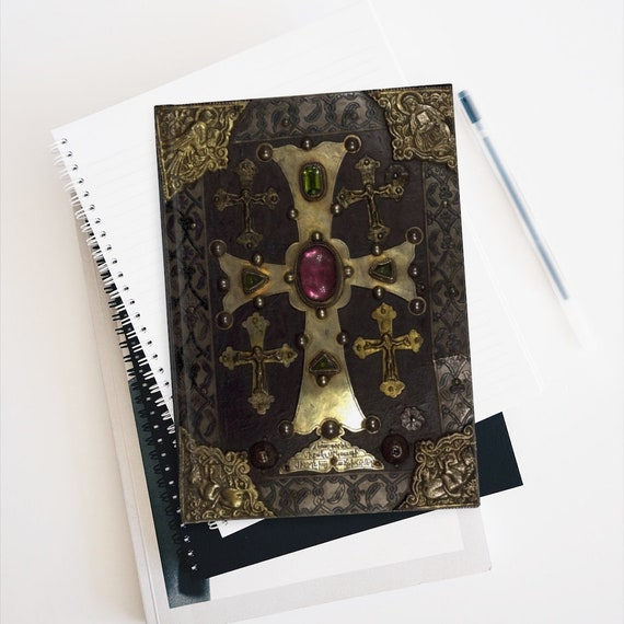 Medieval Gospels Hardcover Journal, Ruled Line, 13th Century, High Middle Ages, Christian Religion