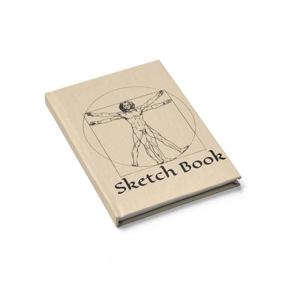 Vitruvian Man, Hard Cover Sketch Book, Leonardo Da Vinci Drawing