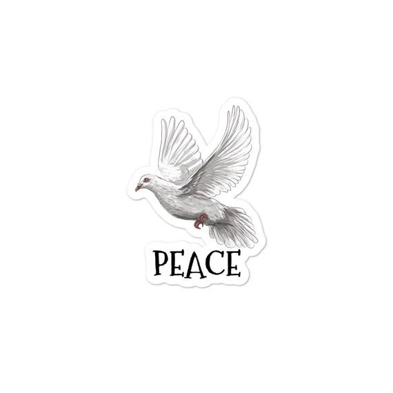 Peace Dove, Vinyl Outdoor Opaque Bubble-free Sticker, Political Statement
