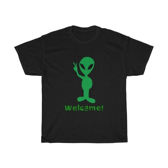 Welcome Alien, Unisex Heavy Cotton T-shirt