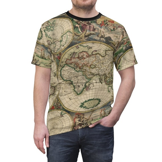 17th Century World Map Shirt