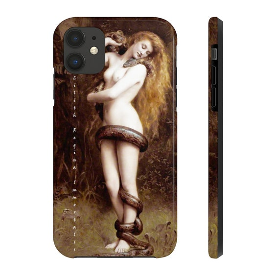 Lilith And The Serpent iPhone 11 Tough Case, Wicca, Feminism