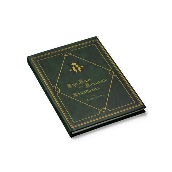 The Nice and Accurate Prophecies of Agnes Nutter, Hardcover Journal, Blank Pages, TV Book, Good Omens, Notebook