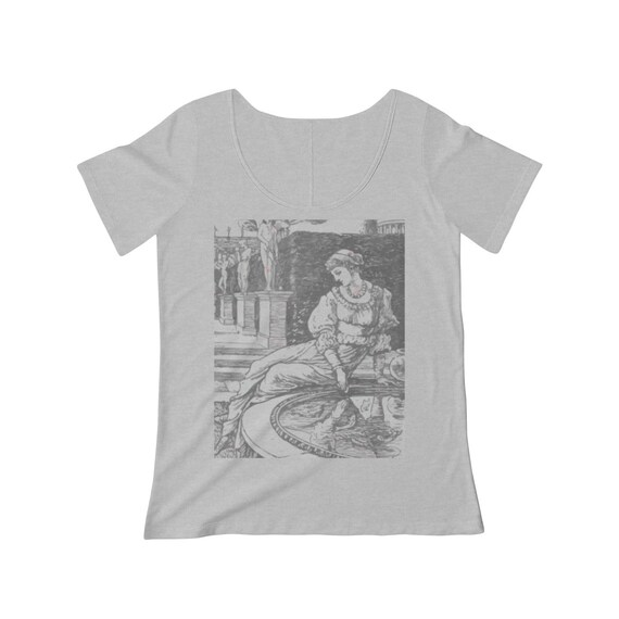 Antheia, Goddess Of Gardens, Women's Scoop Neck T-shirt, 1886 Vintage Illustration