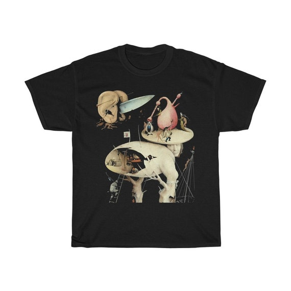 Hieronymus Bosch Black T-shirt, Surrealism, Tree Man Section From The Garden of Earthly Delights