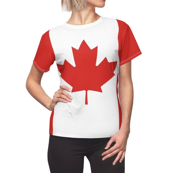 Canadian Maple Leaf Women's Top, Flag Of Canada, AOP
