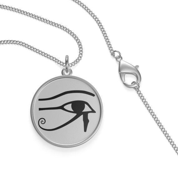 Eye Of Horus, Sterling Silver Necklace, Ancient Egyptian Symbol Of Protection, Royal Power & Good Health