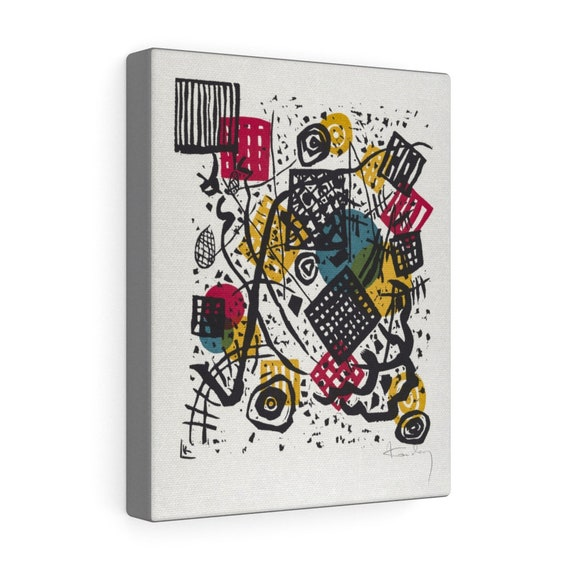 """Small Worlds #5, 8""""x10"""" Gallery Canvas, Wassily Kandinsky, Circa 1922, Abstract"""