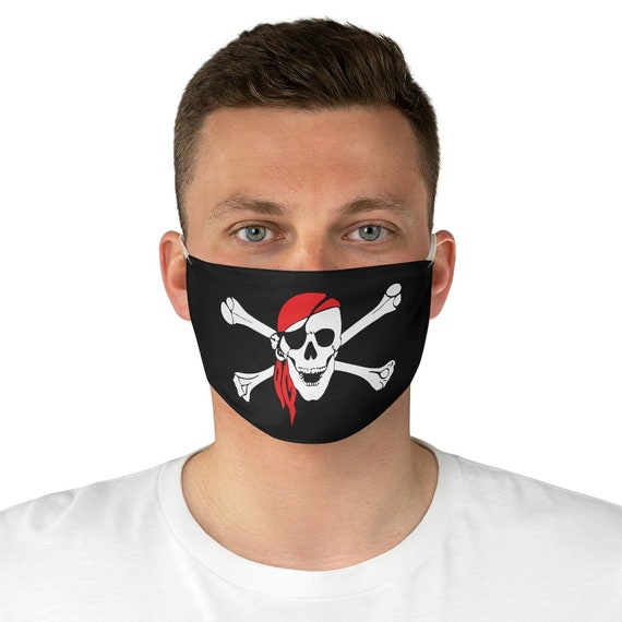 Skull & Crossbones, Cloth Face Mask, Washable, Reusable, Pirate Flag, Jolly Roger