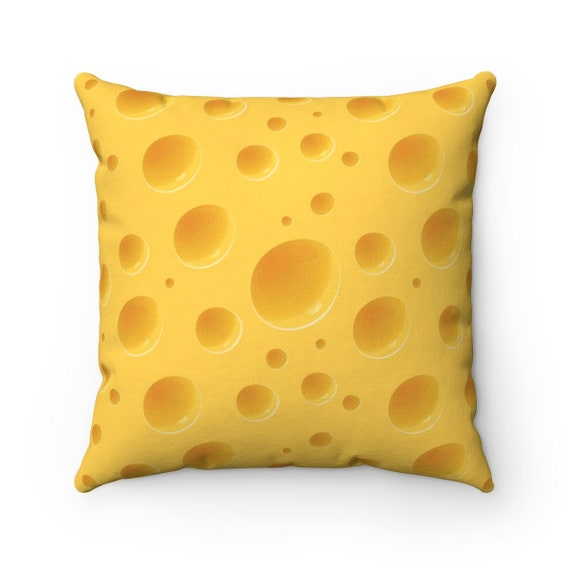Cheese Square Pillow For Your Green Bay Packers Super Bowl Party! For a Cheesehead!