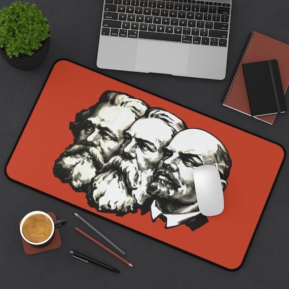 Marx Engels Lenin Desk Mat, Socialism, Communism, Marxism, Activism