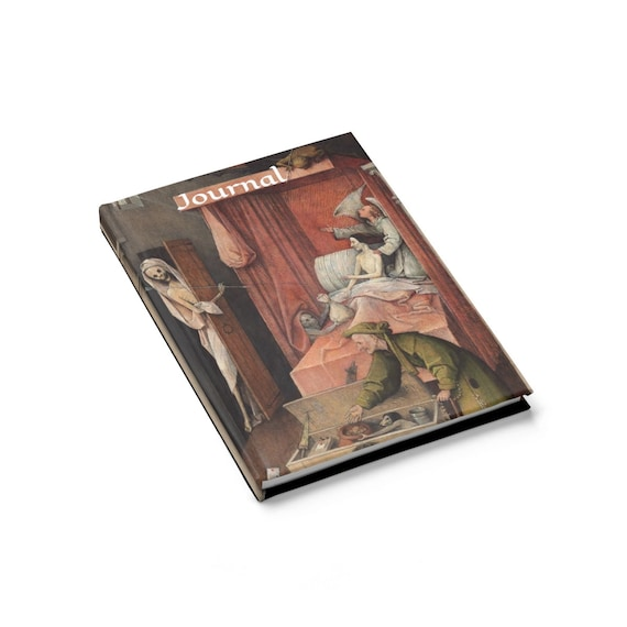 Death and the Miser, Hardcover Journal, Ruled Line, Memento Mori, Hieronymus Bosch
