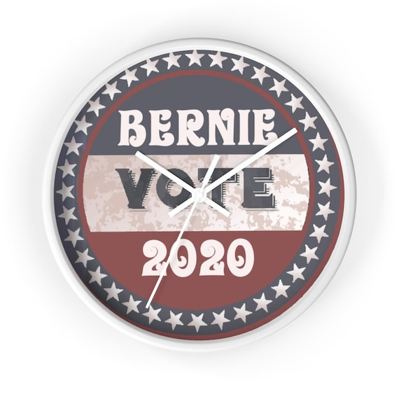 "Vote Bernie 2020, 10"" Round Wall Clock, Vintage Inspired"