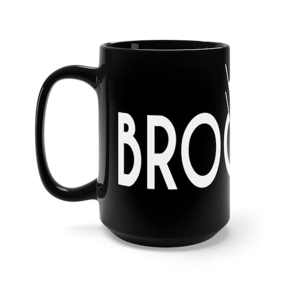 Brooklyn New York City, Black 15oz Ceramic Mug, Vintage Retro Style Design, Brooklyn Pride, Coffee, Tea