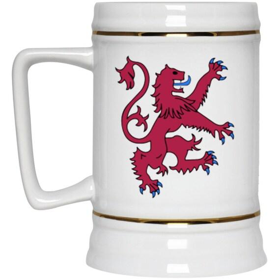 Lion Rampant of Scotland 22oz Beer Stein, Scotland, Scottish Pride