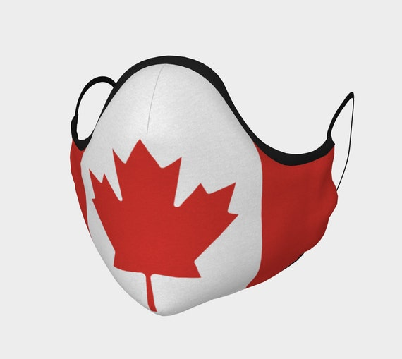 Canadian Maple Leaf, Face Mask With Filter Pocket, Filters Included, 7 Sizes, 100% Cotton, Flag Of Canada