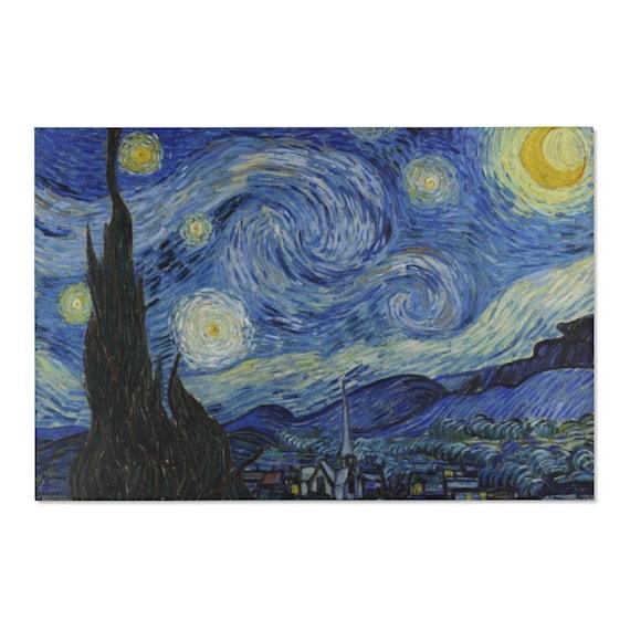Starry Night 4'x6' Area Rug, Vincent Van Gogh, Impressionism