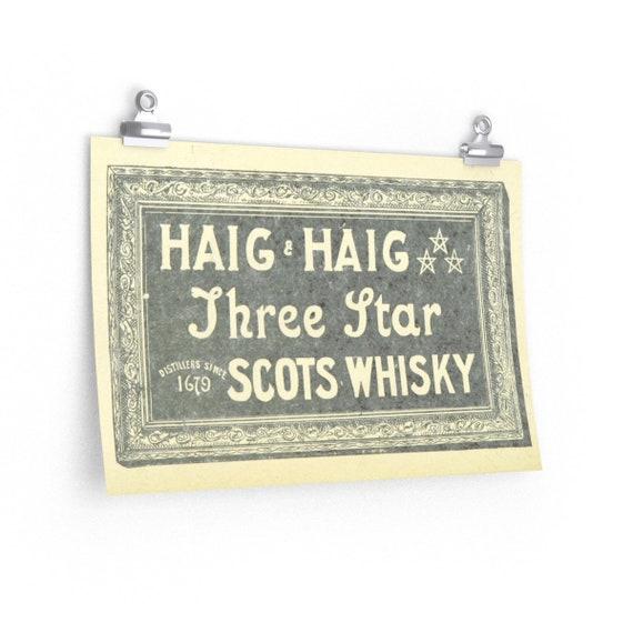 Haig & Haig Whisky Advertisement - Fine Art Poster - From An Antique Vintage Illustration, Circa 1898.