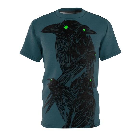 Five Ravens, Unisex T-shirt, Inspired By Edgar Allan Poe, AOP