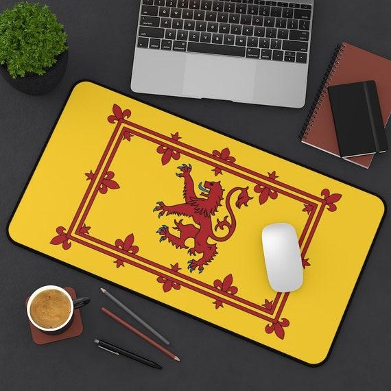 Lion Rampant of Scotland Desk Mat, Scottish Pride, Royal Banner Of Scotland