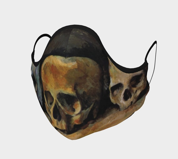 Three Skulls, Face Mask, 7 Sizes, Filter Pocket, Filters, 100% Cotton, Free Worldwide Shipping, Paul Cezanne