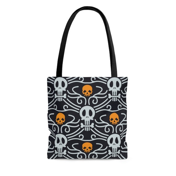 Day Of The Dead Square Tote Bag, Vintage Inspired Traditional Pattern For Día De Muertos