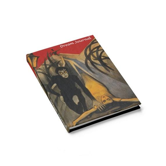 The Cabinet of Dr. Caligari, Hardcover Dream Journal, Ruled Line, 1920 German Silent Horror Film Poster