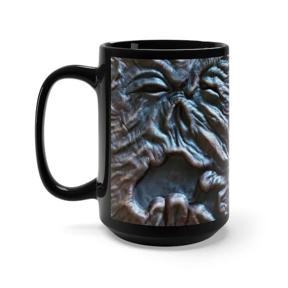 Old Necronomicon Large Black Ceramic Mug, The Evil Dead, Cosmic Horror, Lovecraft, Coffee, Tea