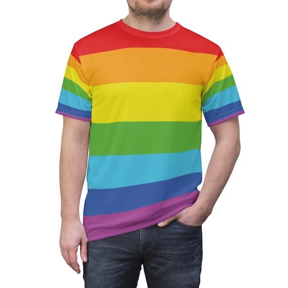 Rainbow T-shirt, Pride, Activism, AOP